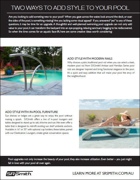 S.R.Smith Add Style to Your Pool